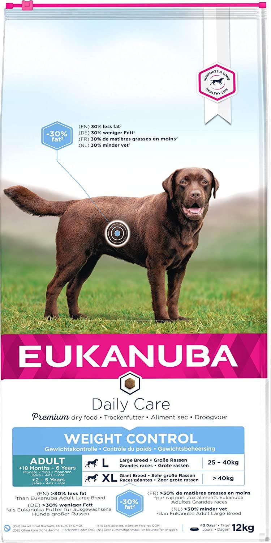 Croquettes EUKANUBA -  Chien Adult Grandes Races- Weight Control 15kg