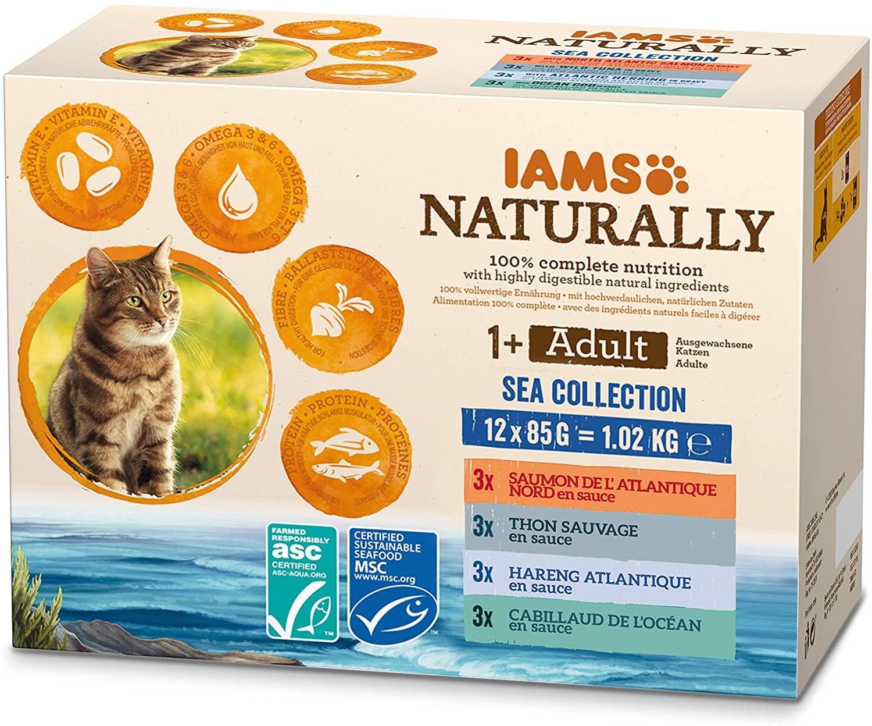 IAMS Naturally - Sachets OCEAN  12 x 85g NosZanimos