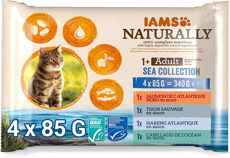 Sachets IAMS Naturally - OCEAN  4x85g