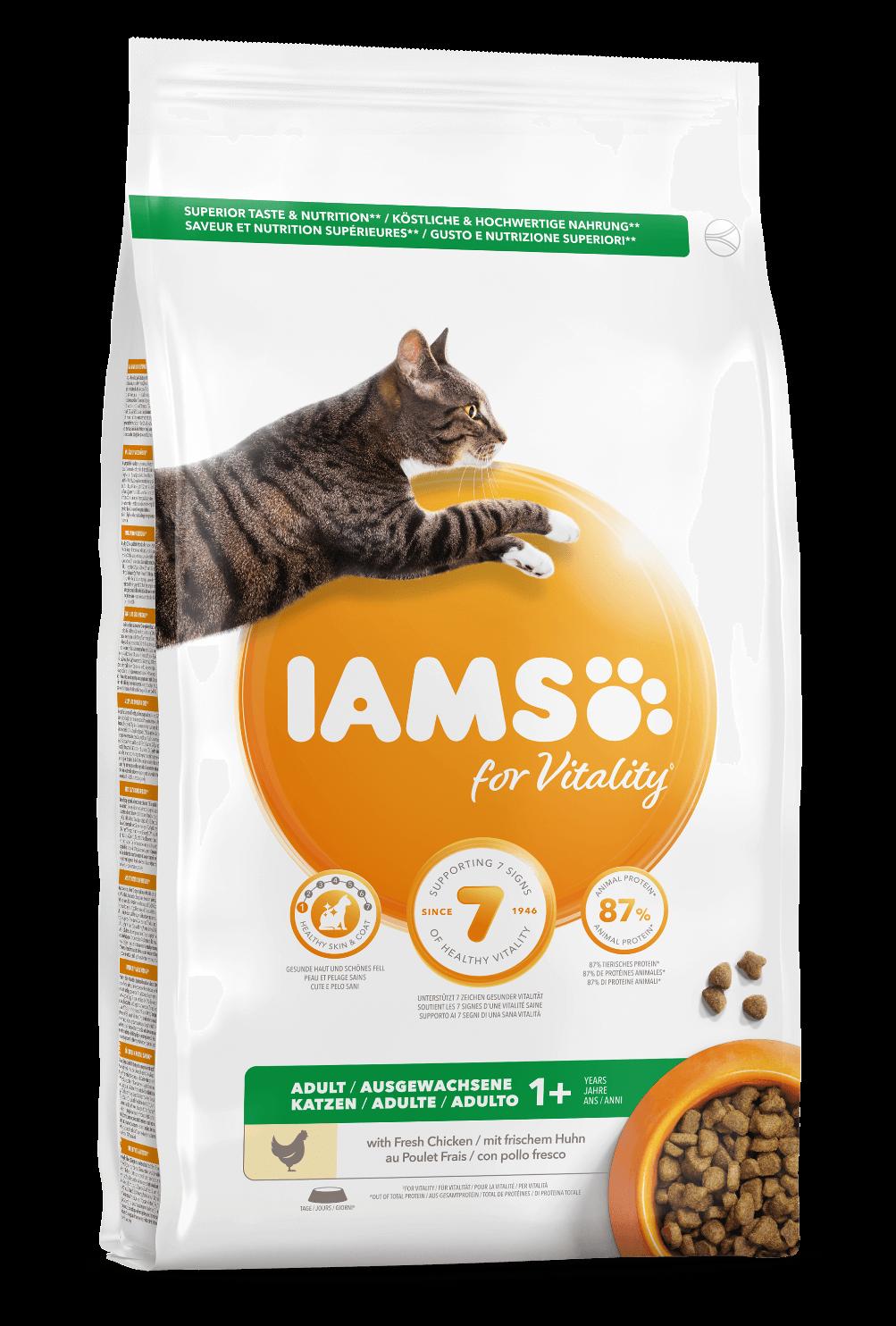 Croquettes IAMS - Vitality Chat Adult - Poulet - 1,5kg
