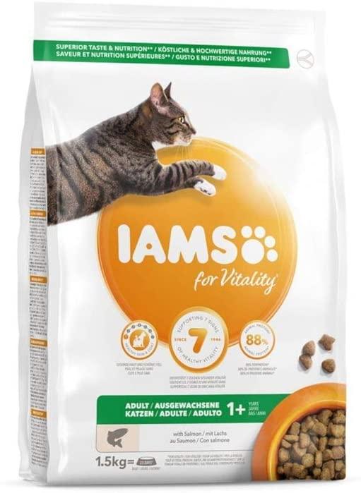 Croquettes IAMS - Vitality Chat Adult - Saumon 1,5kg