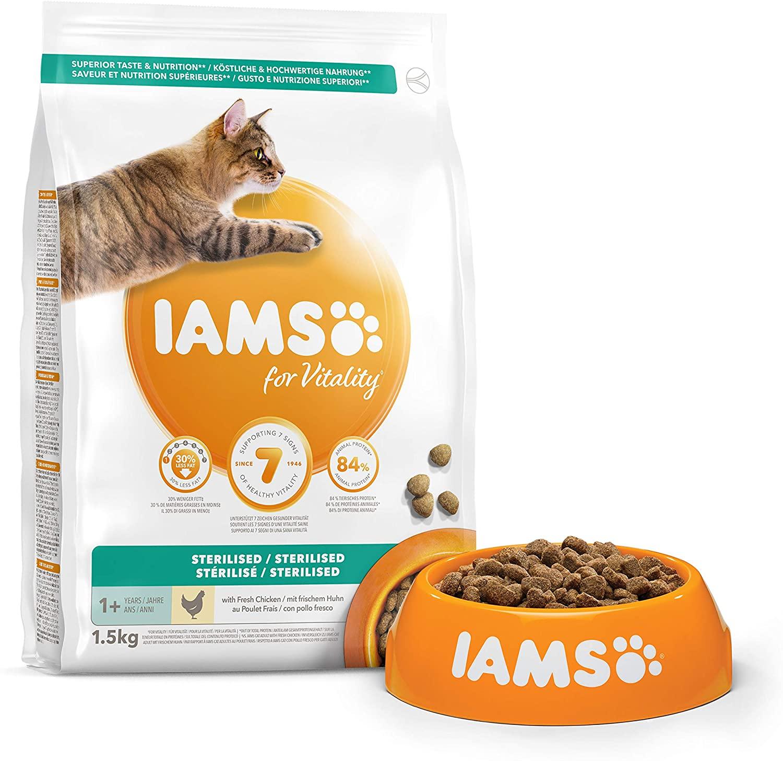 Croquettes IAMS Vitality - Chat Adult Stérilisé 1,5kg