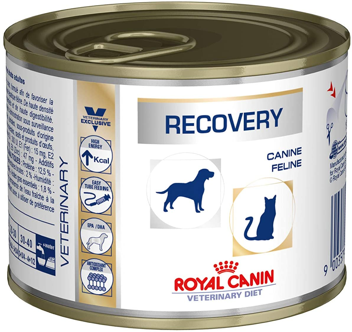 ROYAL CANIN Vet Dog Cat Recovery boite - 12 X 195g