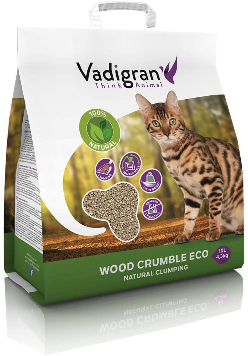 VADIGRAN Wood Crumble Litière pour Chat NosZanimos