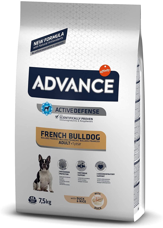 Croquettes Advance Bouledogue Français - Canard 7,5kg
