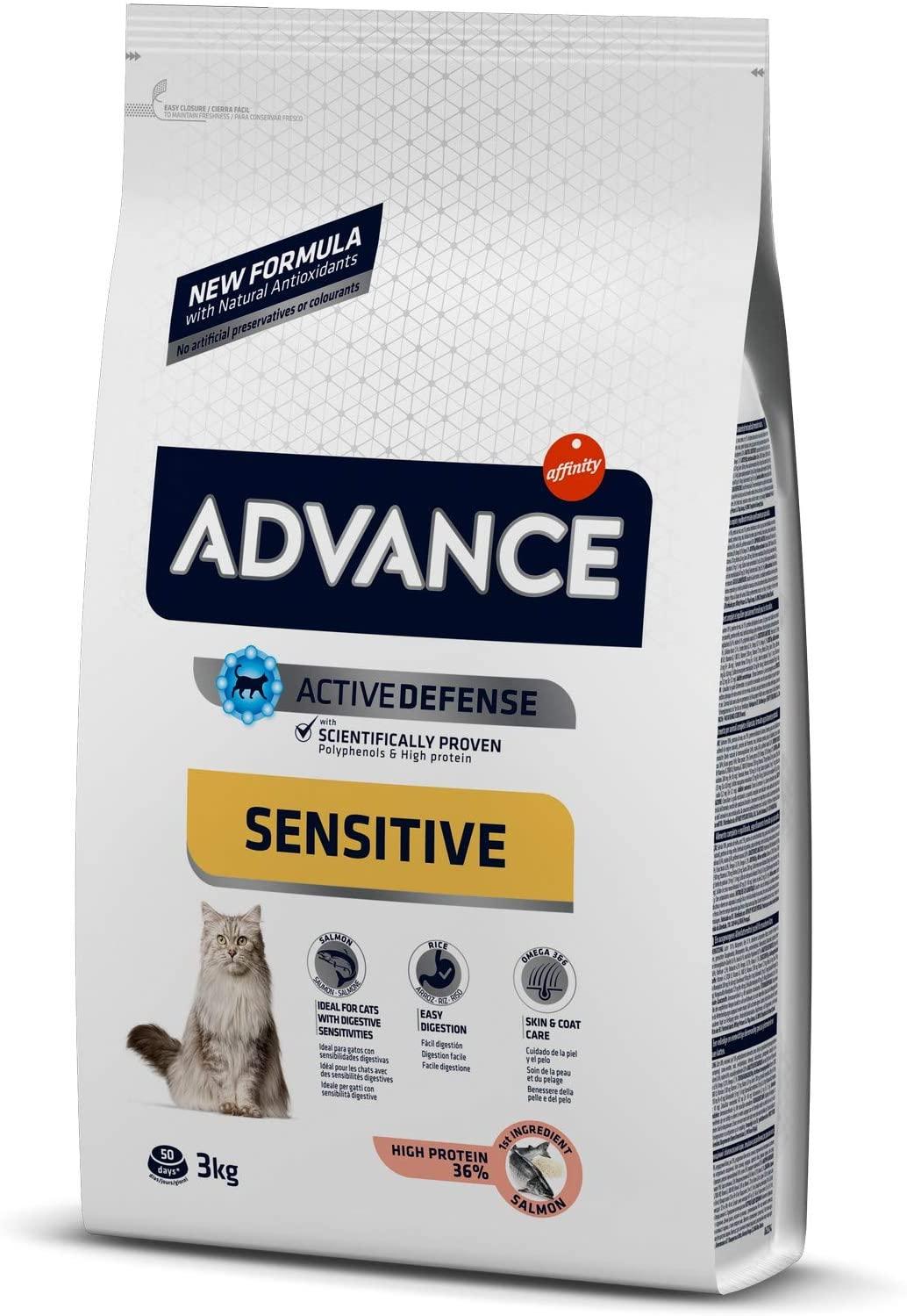 Croquette Advance Sensitive - Pour Chat Adult - Saumon et Riz