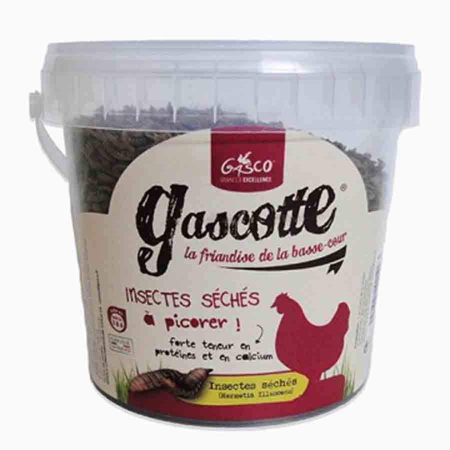 Gasco - Insectes Séchés Gascotte pour Poules - 250g