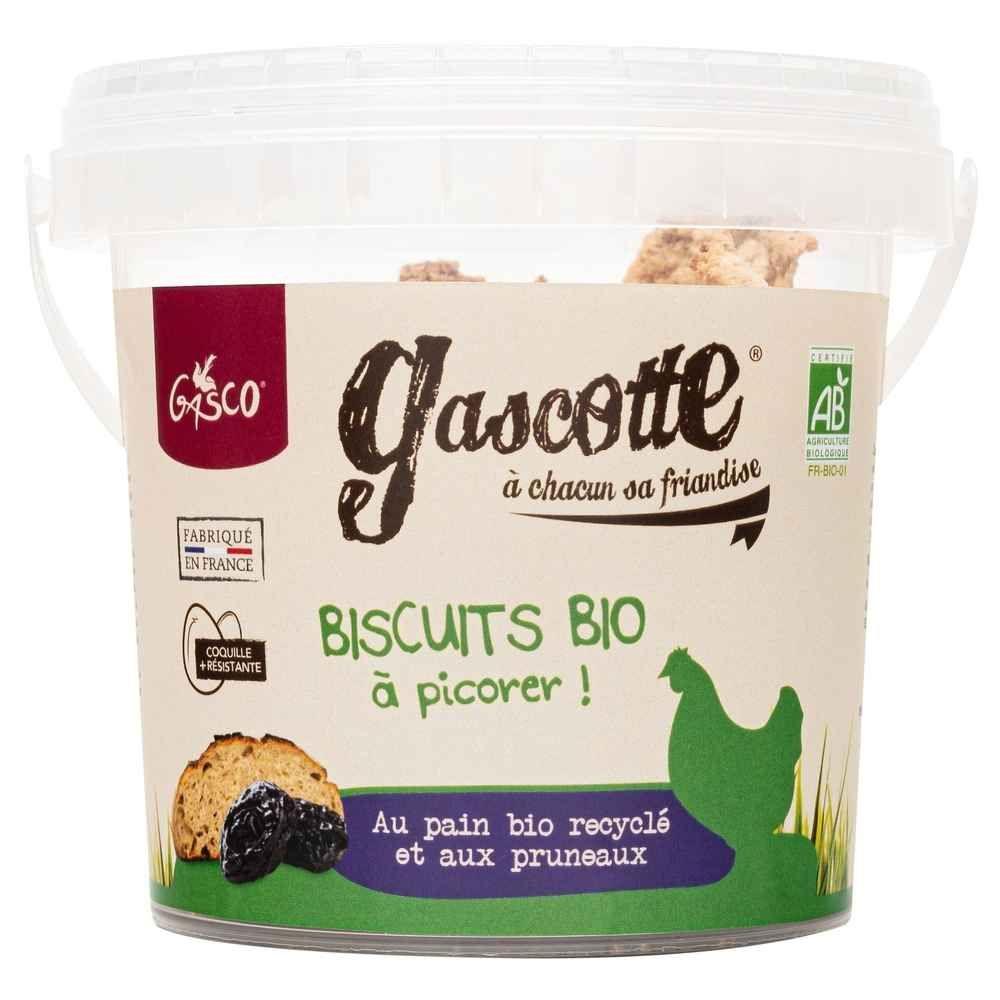 Gasco - Biscuits Bio aux Pruneaux Gascotte pour Poules - 150g