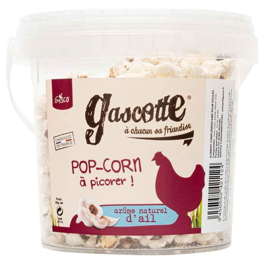 Gasco -Friandises Pop Corn à l\'ail -  Gascotte pour Basse Cour - 30g