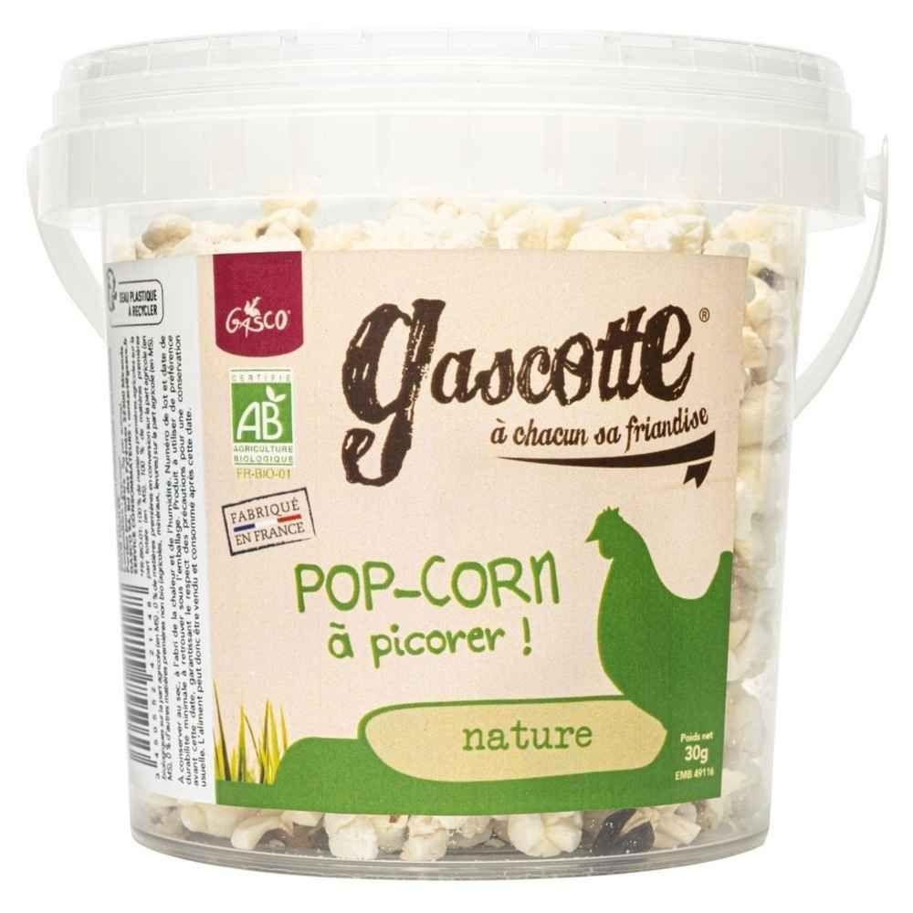 Gasco - Pop Corn Nature Bio - Gascotte pour Basse Cour - 30g
