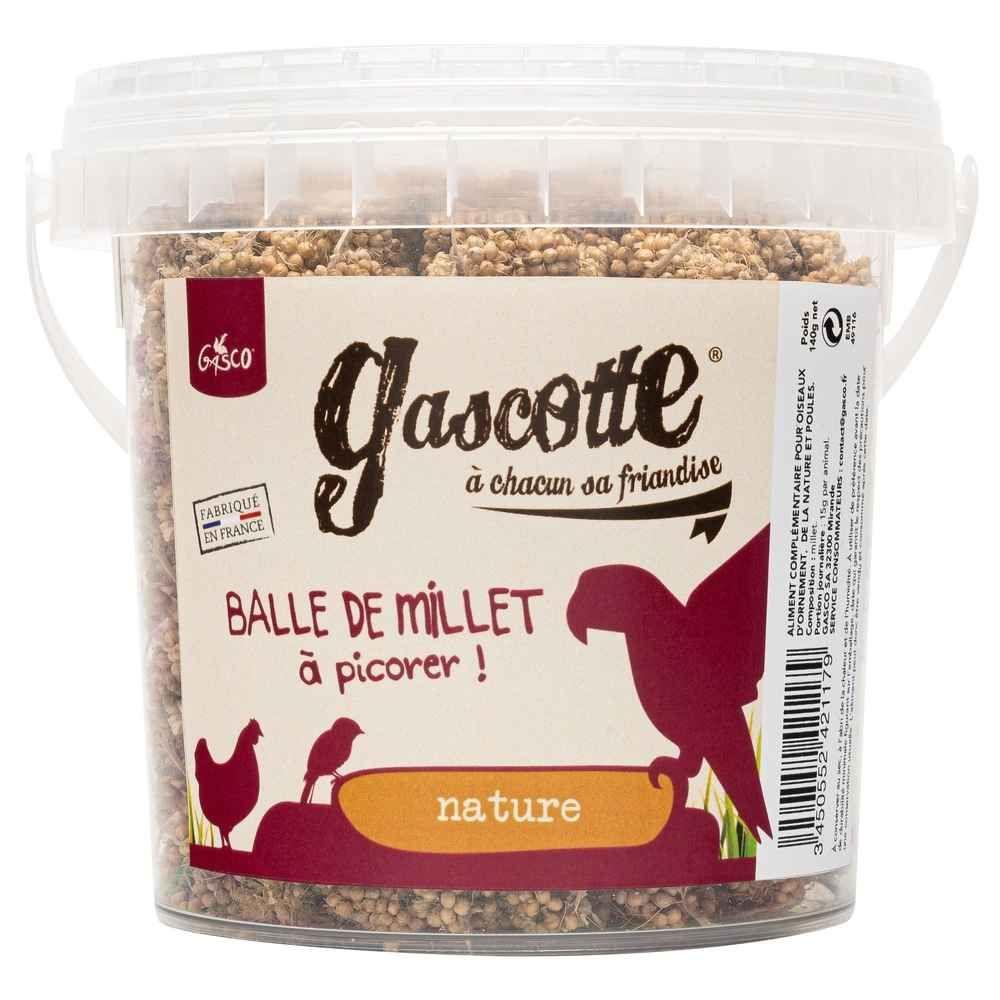 Gasco -Balle de Millet à picorer - Gascotte pour Basse Cour - 240g
