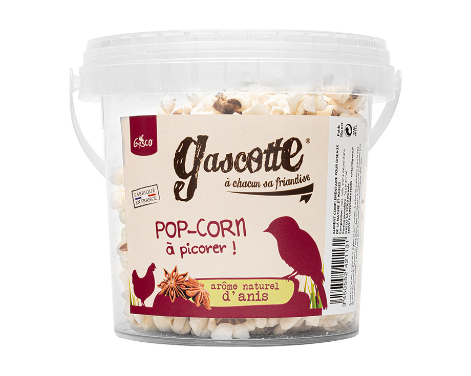 GASCO popcorn-a-l-anis-gascotte pour basse-cour NosZanimos
