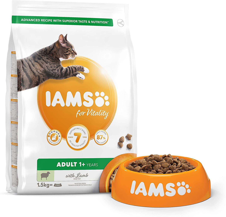 Croquettes IAMS - Vitality Chat Adult - Agneau - 1,5kg