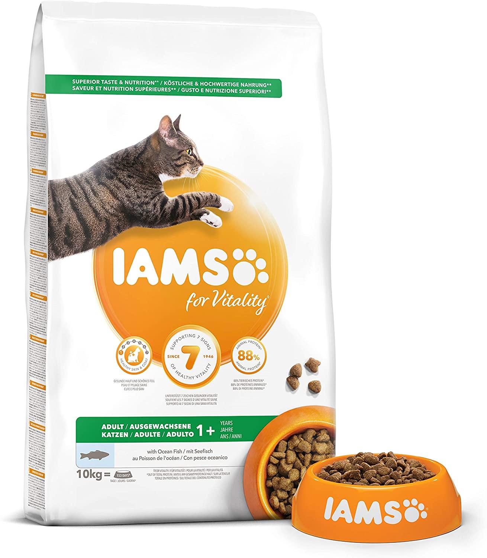 Croquettes IAMS Vitality - Chat Adult - Poissons - 10kg NosZanimos