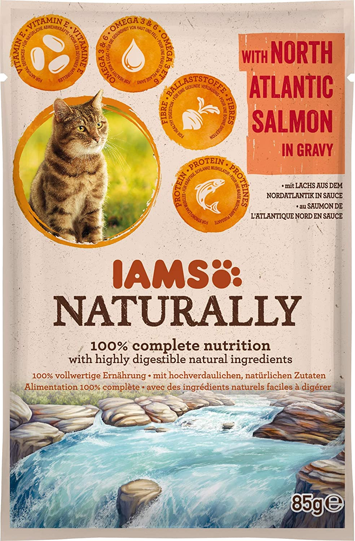 Sachet IAMS Naturally - au Saumon - 85g