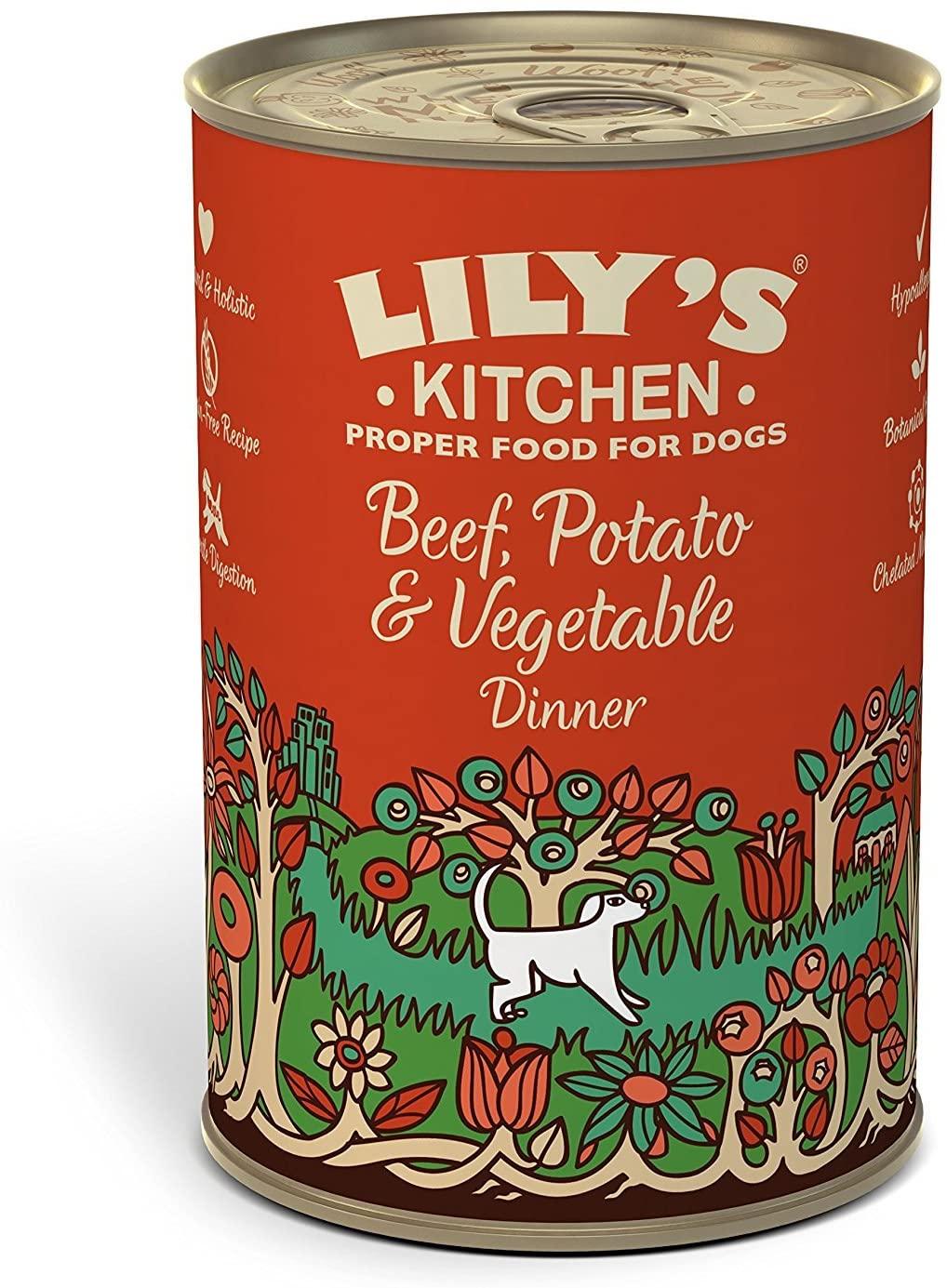 Lily\'s Kitchen -  Pâtée pour Chien - Bœuf Carottes  Boite 400g