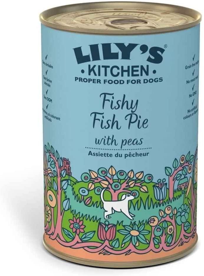 Lily\'s Kitchen - Patee pour Chien - Saumon Hareng Dinde  - Boite 400g