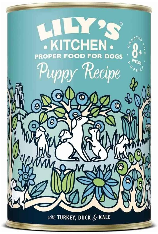 Lily\'s Kitchen - Patee pour Chiot - Dinde Canard - Boite 400g