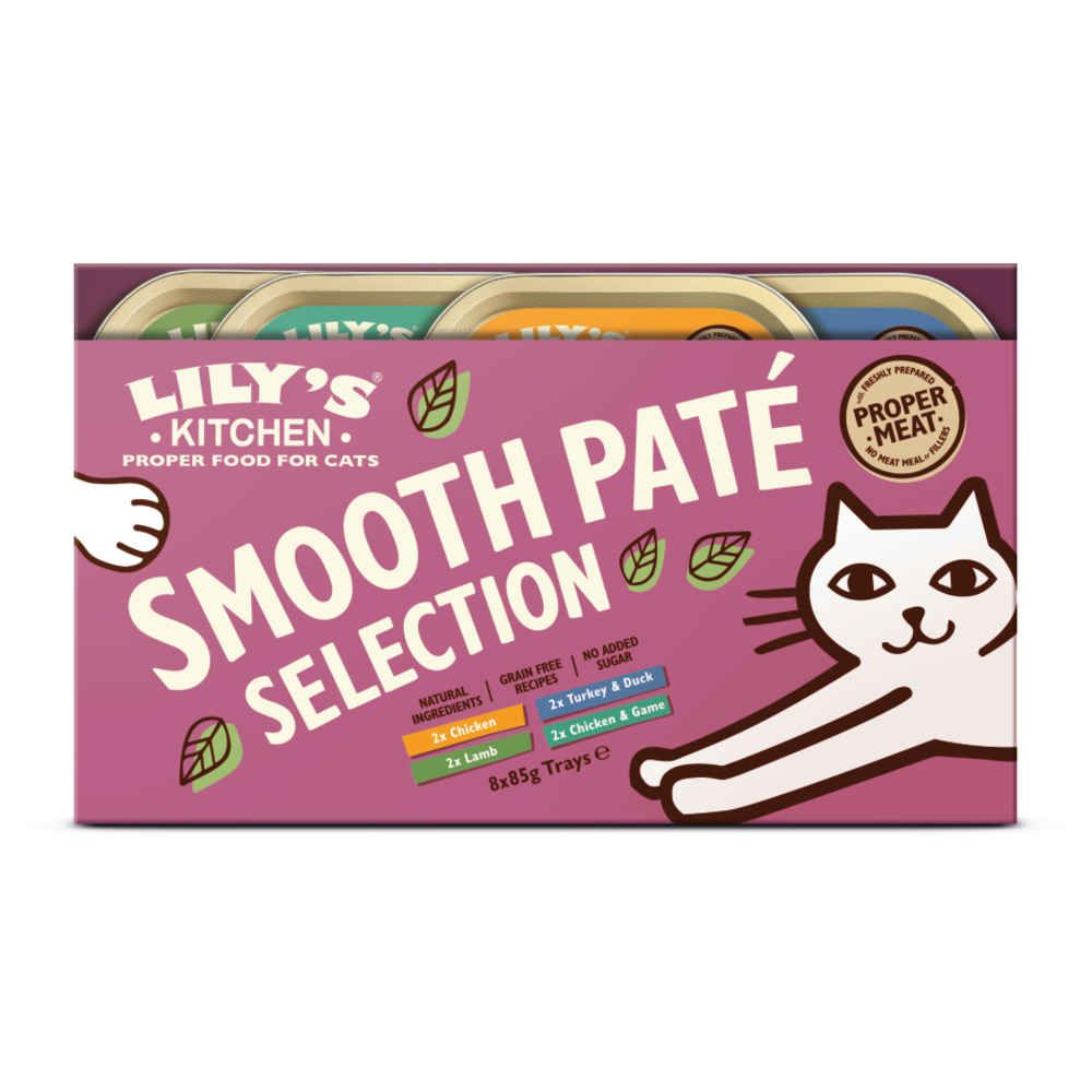 Lily\'s Kitchen - Smooth Pate Selection pour chat - Multipack 8 x 85g