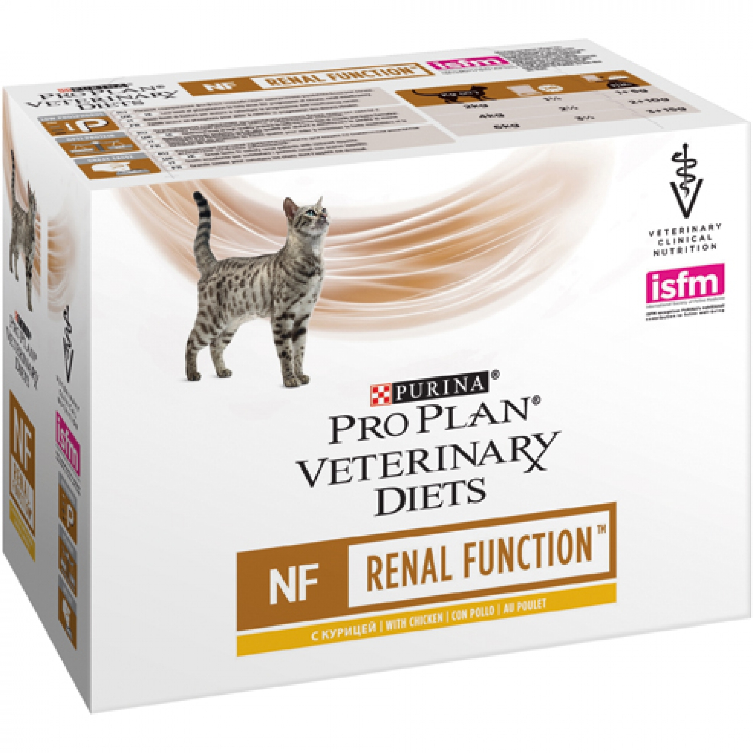 PURINA Pro Plan - Veterinary Diets - Chat NF St Ox - Renal Fonction - Poulet - Sachets 10x85gr