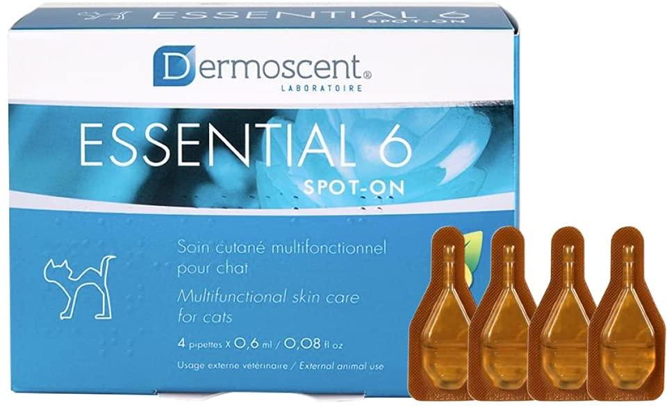 Dermoscent Essential 6 Spot-on pour Chat  4 pipettes de 0,6ml