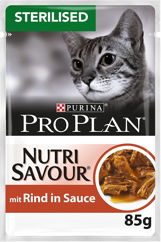 Purina Proplan - Sachets pour Chat Nutrisavour - Boeuf 26 x 85 grs