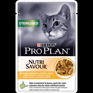 Purina Pro Plan - Sachet pour Chats Sterilised - Poulet 26x 85 g