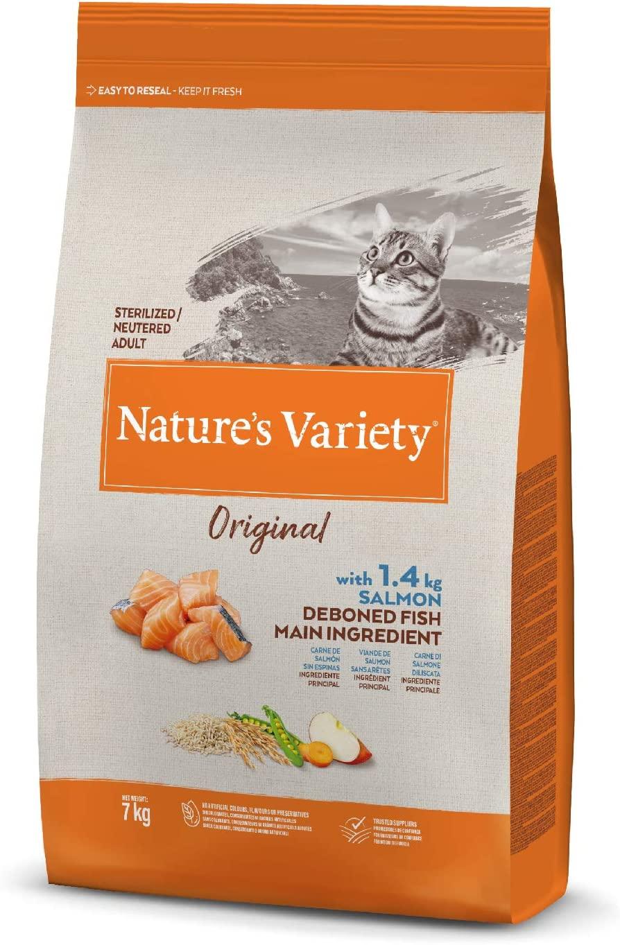 Nature\'s Variety - Croquettes Original pour chat Sterilisé - Saumon
