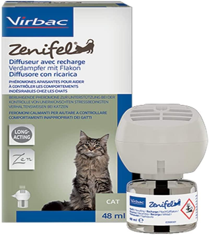 VIRBAC - Zenifel Anti Stress pour chat -  Diffuseur et Recharge + Prise