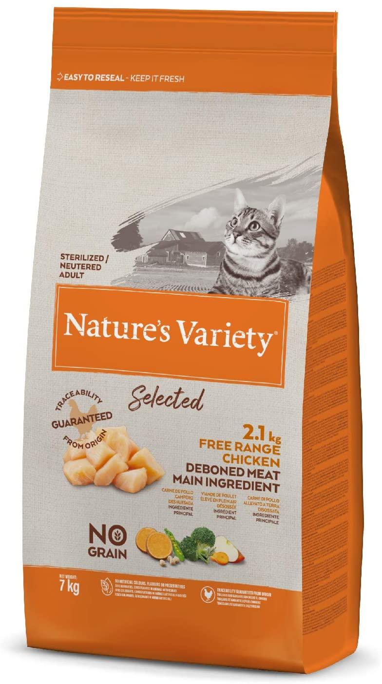 Nature\'s Variety - Croquettes Selected Stérilisé pour Chat - Poulet