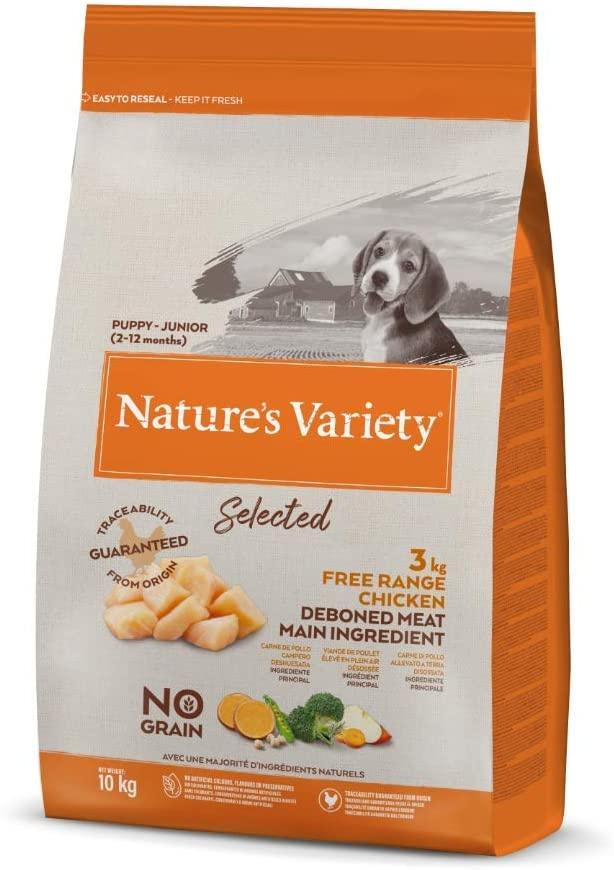 Nature\'s Variety - Croquettes Selected  pour Chien Junior - Poulet