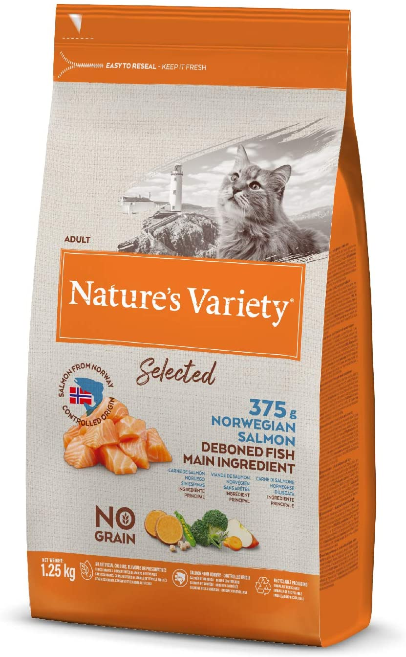 Nature\'s Variety - Croquettes Selected pour Chat Adult - Saumon