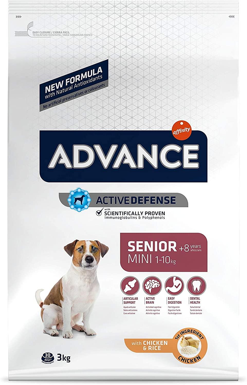 ADVANCE Croquette pour chien Senior Mini - +8ans - Poulet -3 kg