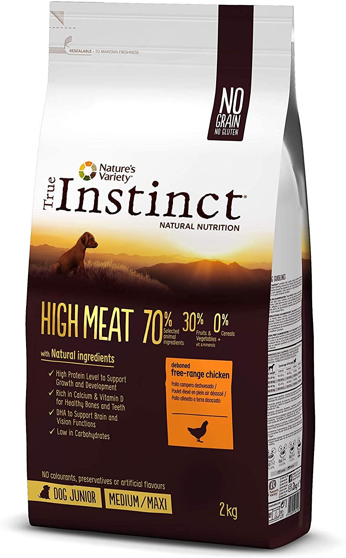 True Instinct - Croquettes pour Chien Junior -  High Meat - Poulet