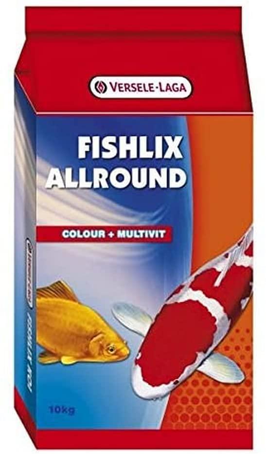 VERSELE LAGA - FISHLIX - Alimentation Poisson Etang - Mélange granulé tricolore - 10kg