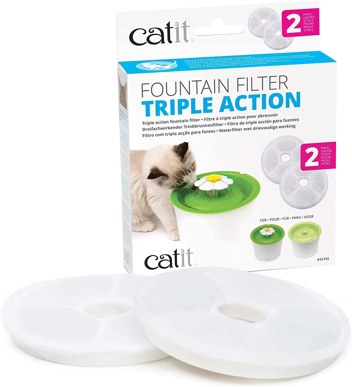 Catit Pack de 2 Filtres pour Fontaine