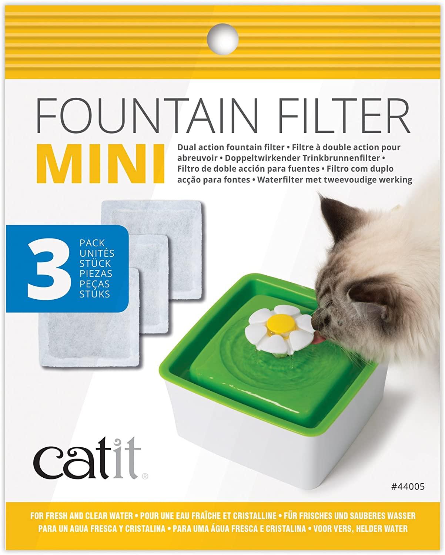 Catit Pack de 3 Filtres pour Mini Fontaine