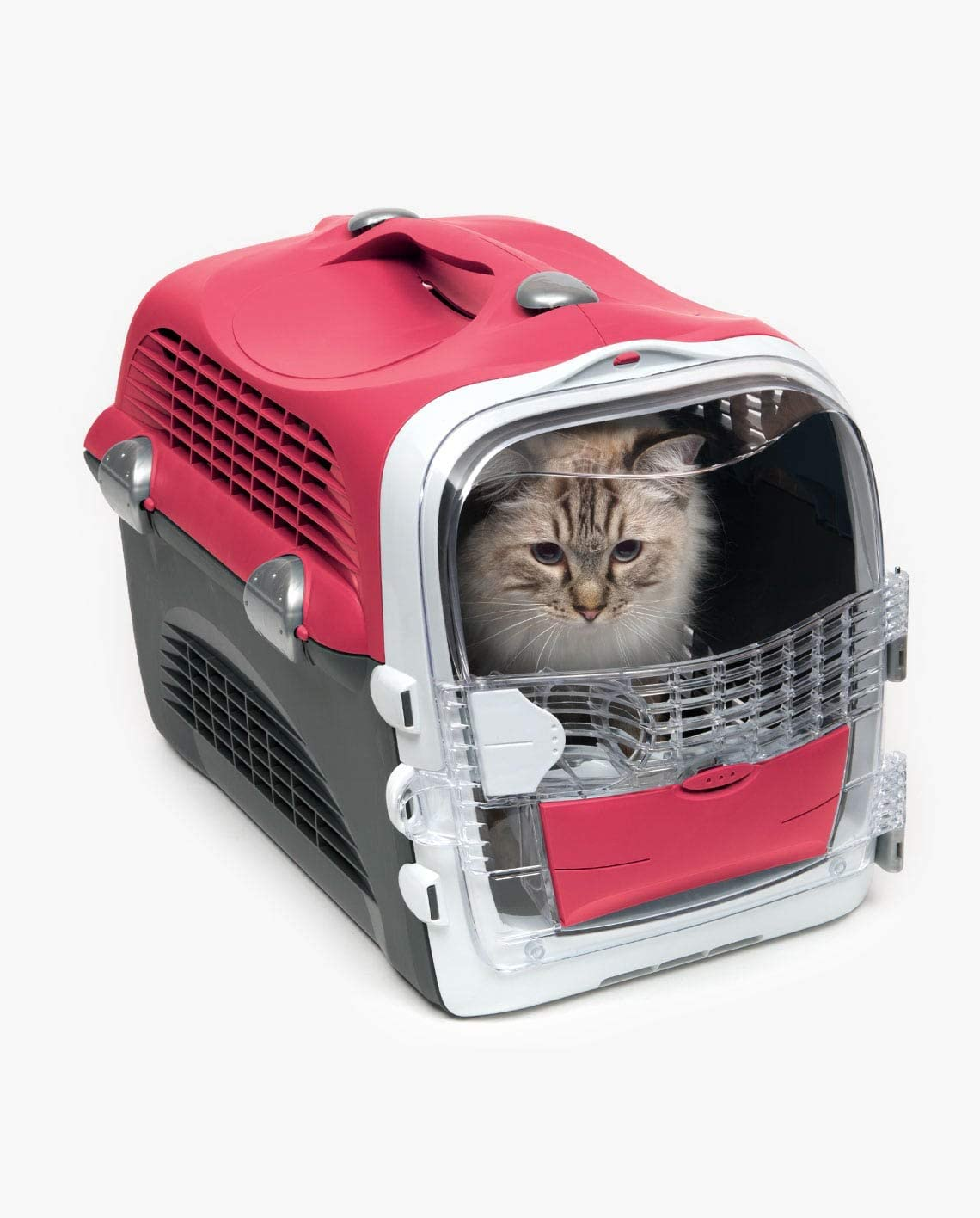 Catit – Cage de Transport Cabrio pour Chat, Rouge Cerise
