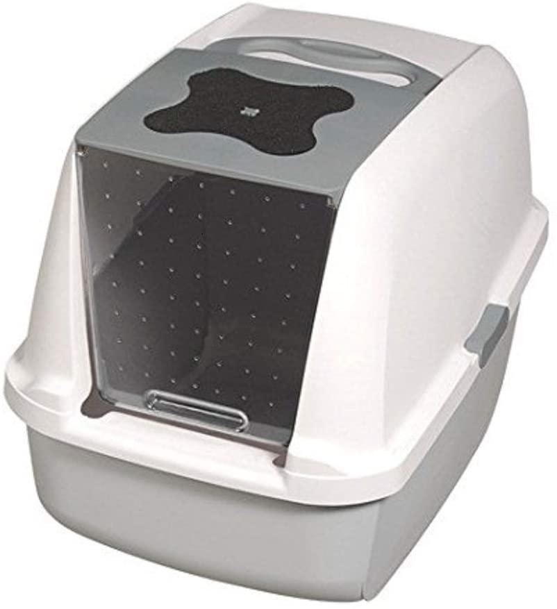 Catit - Maison de toilette Blanc Gris