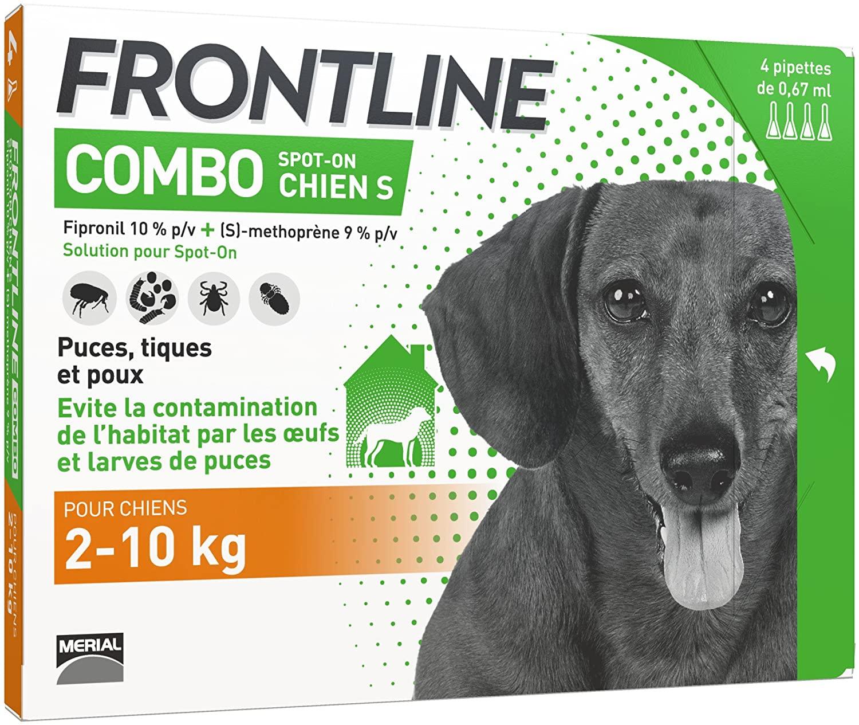 FRONTLINE Combo Chien - Antiparasitaire pour chien - 4 pipettes