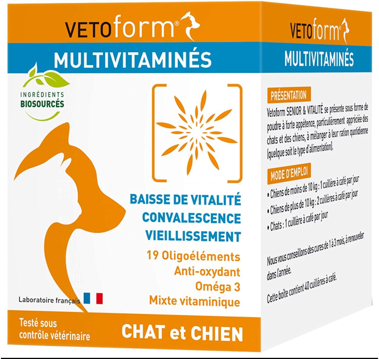 VETOFORM - Complément Alimentaire Multivitaminés pour chat et chien Seniors