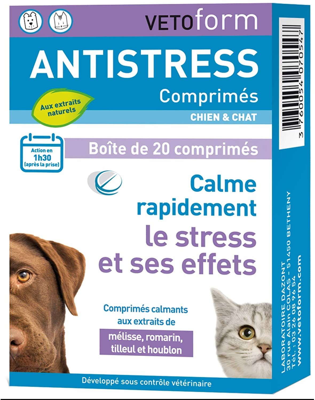 Vetoform - anti-stress chien et chat 20 comprimés
