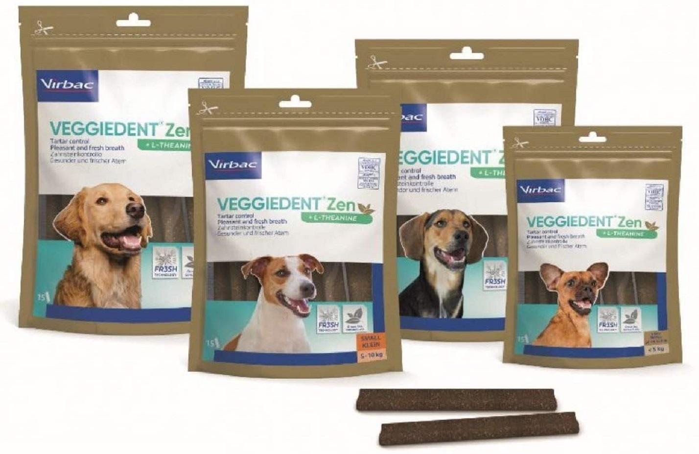 VIRBAC - Lamelles Dentaires VEGGIEDENT ZEN pour chien