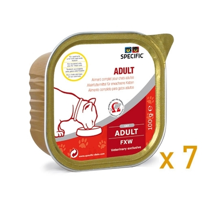 Specific - Adult - FXW - Lot de 7 barquettes 100g