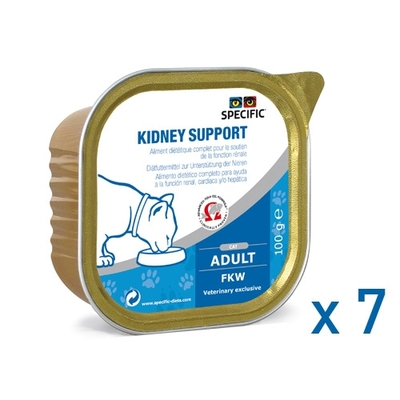 Specific - FKW - Kidney Support - Lot de 7 barquettes 100g