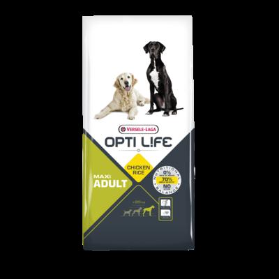 OPTI LIFE- Adult Maxi - Poulet et Riz - 12.5kg