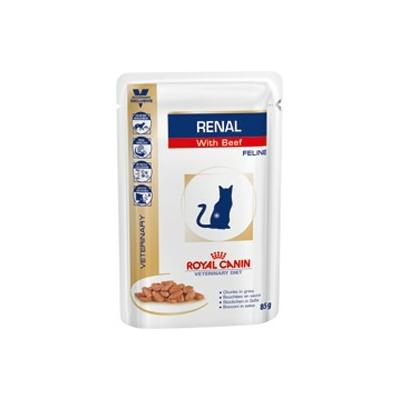 ROYAL CANIN Veterinary Diet  - Renal Boeuf  - 12 Sachets de 85g