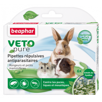 Pipettes insectifuges VETOpure pour rongeurs