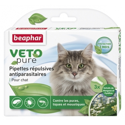 Pipettes répulsives VETOpure -antiparasitaires chat