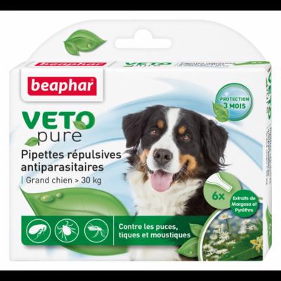 Pipettes répulsives VETOpure - antiparasitaires grand chien  >30kg